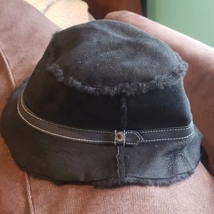 Vintage Coach 100% Shearling Bucket Hat